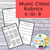 Music rubrics