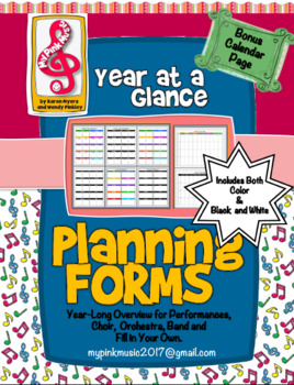 Music style: Year at a Glance- Planning Guide (Freebie included in preview)