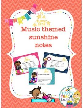 Music sunshine notes