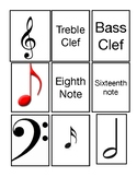 Music symbol matching game