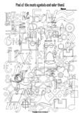 I Spy Music Symbols Coloring Page
