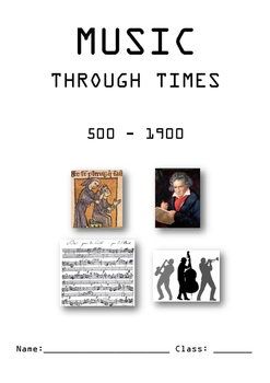 Music through times booklet (500-1900)