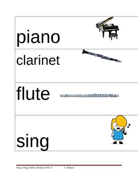 Music/Art Picture Vocabulary Cards