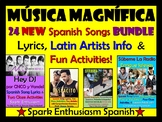Musica Magnifica - 24 New Spanish Songs Bundle, Latin Artists & Fun Activities