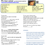 "Simple Future in music (video/song lyrics)-Axel: ""Te voy a amar"""