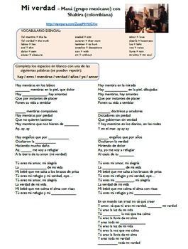 """ERES"" in music (video/song lyrics) - Maná feat. Shakira: ""Mi verdad"""