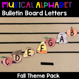 Musical Alphabet Bulletin Board Letters-Fall Activity - Thanksgiving - Halloween