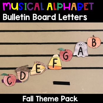 Musical Alphabet Bulletin Board Letters-Fall Activity - Thanksgiving - Halloween