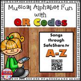 Alphabet Activity Letter Sounds Musical QR Code Task Cards