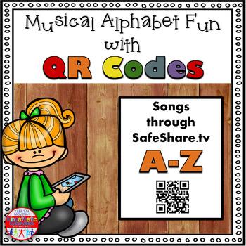 Alphabet Activity - Letter Sounds - Musical QR Code Task Cards