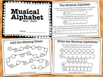 Musical Alphabet Mini Book