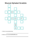Musical Alphabet Scrabble! - Game Worksheet