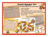 Musical Alphabet Trail Board Game