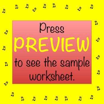 Musical Alphabet Words Worksheet:  ♫ Make Up a Story