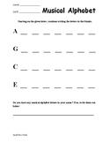 Musical Alphabet Worksheets
