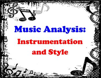 Musical Analysis - Instrumentation and Style