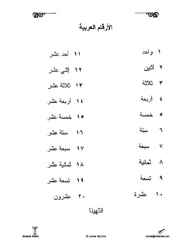 Musical Arabic -Learning Arabic at Any Age (Song/Chant teaching Arabic numbers