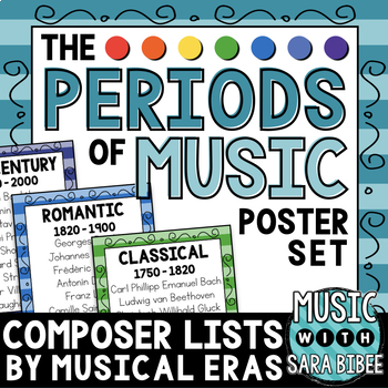 Musical Artists and Eras- Posters, Handouts and Bulletin Boards