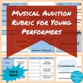 Musical Audition Rubric for Young Performers