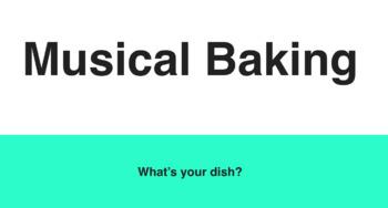 Musical Baking