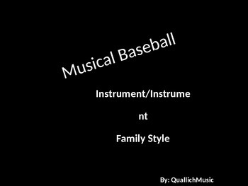 Musical Baseball- An Instrument Review Game