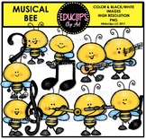 Musical Bee Clip Art Bundle {Educlips Clipart}