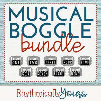 Musical Boggle Bundle- Levels 1 2 3 4 5 6 7 8 9