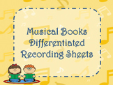 Musical Books! Recording Sheet