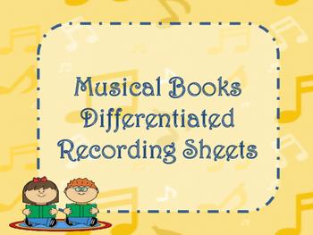 Musical Books! Recording Sheet