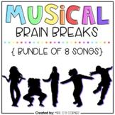 Musical Brain Breaks Bundle | Bundle of 8 Songs
