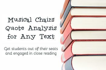 Musical Chairs Close Reading Analysis for Any Text