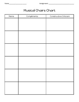 Musical Chairs Feedback Form