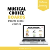 Musical Choice Boards for Back to School