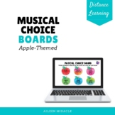 Musical Choice Boards for Distance Learning {Apple-Themed}