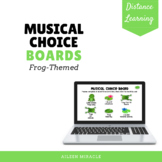 Musical Choice Boards for Distance Learning {Frog-Themed}
