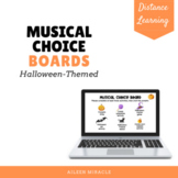 Musical Choice Boards for Distance Learning {Halloween-Themed}