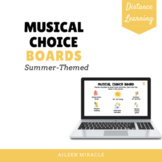 Musical Choice Boards for Distance Learning {Summer-Themed}