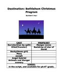 Musical Christmas Program: Destination Bethlehem