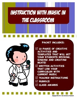 Memorize Curriculum with Music and Rhythm Activity Packet