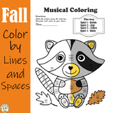 Musical Coloring Pages for Fall {Lines and Spaces} with answers