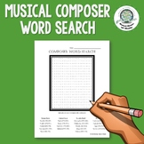 Musical Composer Word Search Distance Learning