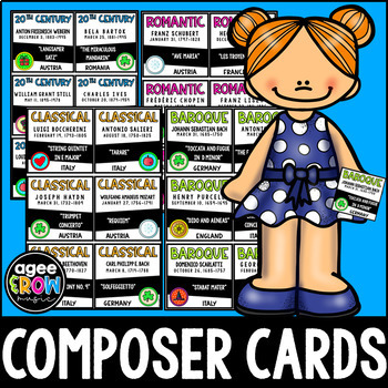 36 Classical Composer Flashcards + Worksheets + Answer Key