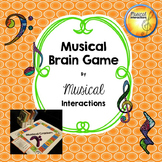 Musical Brain Game (full color) - Comprehensive review, music centers, sub plan
