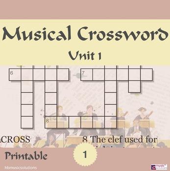 Musical Crossword Unit 1
