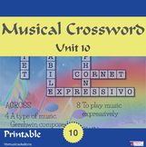 Musical Crossword Unit 10