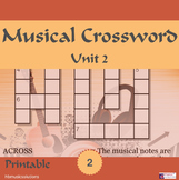 Musical Crossword Unit 2
