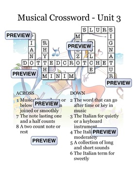 Musical Crossword Unit 3