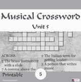 Musical Crossword Unit 5