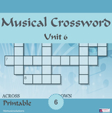 Musical Crossword Unit 6