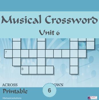 Musical Crossword Unit 6